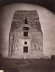 Front view of the Teli-ka-Mandir before restoration, Gwalior